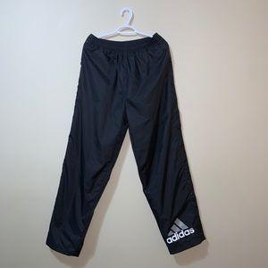 Vintage 90's Black Adidas Tearaway Pants